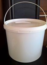 Műanyag vödör tetővel 10 liter