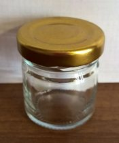 Kis mézes üveg tetővel 40 ml