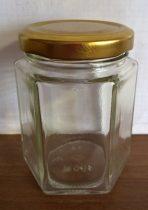 Hexagon üveg tetővel 196 ml
