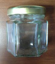 Hexagon üveg tetővel 47 ml